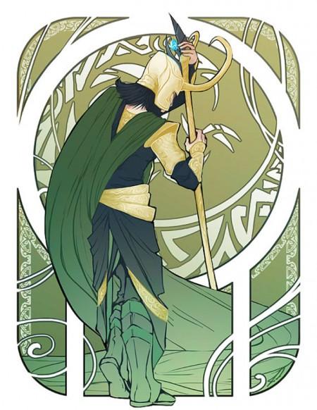Loki Art Nouveau Print