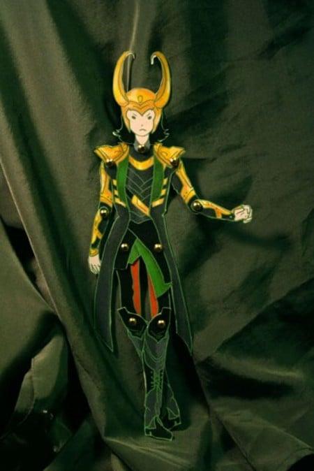 Loki Paper Doll Puppet