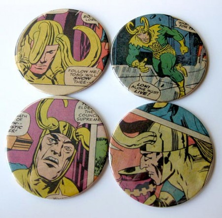 Loki Comic Book Coasters