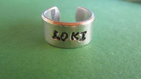 Loki Silver Etched Ring