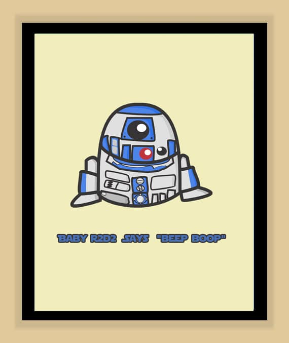 Star Wars Babies Prints For Geek Nurseries