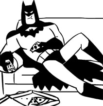 Batman Chillaxing In Ordinary Life [11 Animated Gifs]