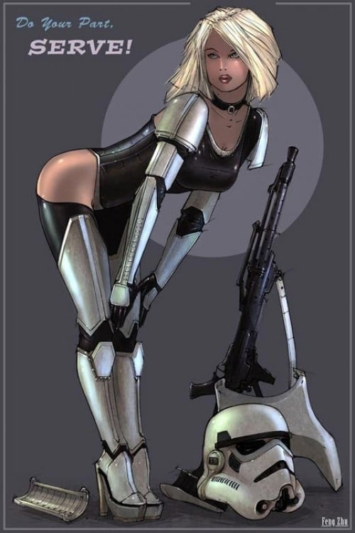Star Wars Illustrated Pinup Girls Propaganda Posters
