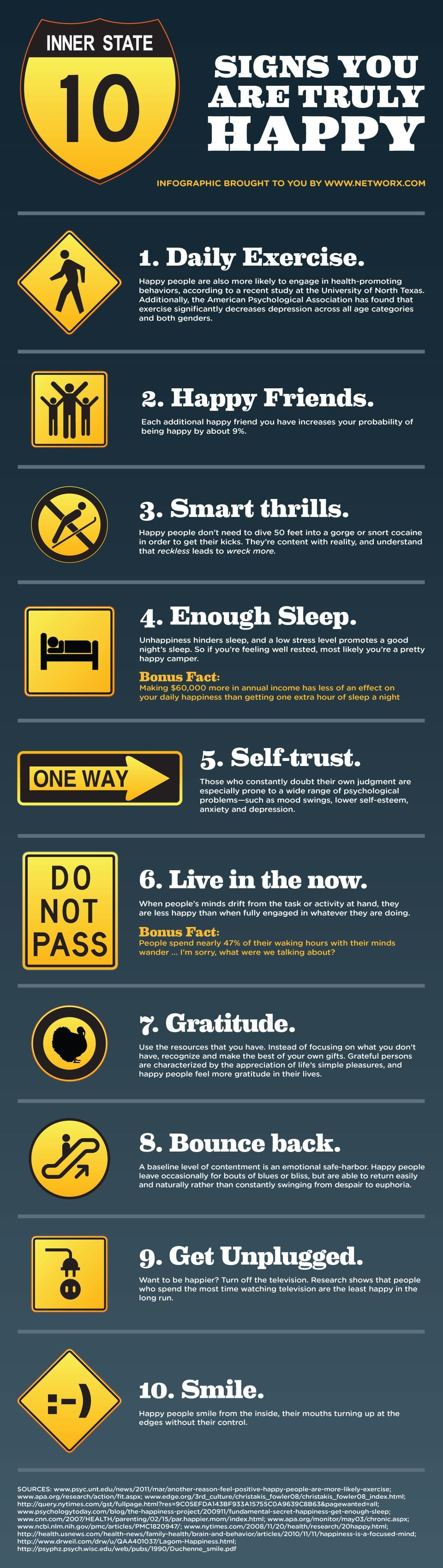 10 Signs You Are Truly Happy [Infographic]