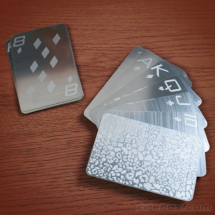 Stainless Steel Playing Cards For Card Sharks With Luxurious Taste