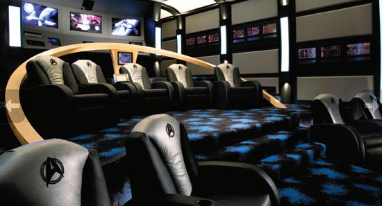 Unbelievable Star Trek Themed Home Movie Theater