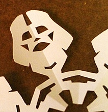 Star Wars Characters Snowflake Cut-Out Tutorial