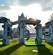 The Art Of Replicating Stonehenge With Cars
