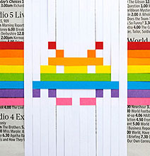 DIY Space Invaders Pixelated Paper Art