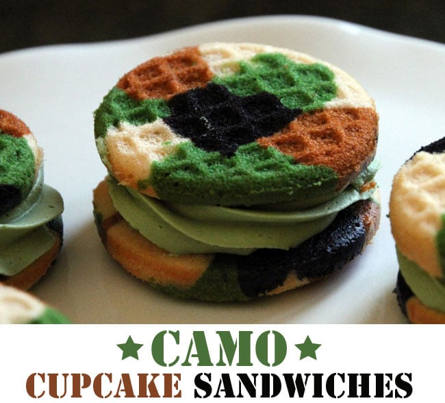 Camo Cupcake Sandwiches: A Creative Camouflage Design