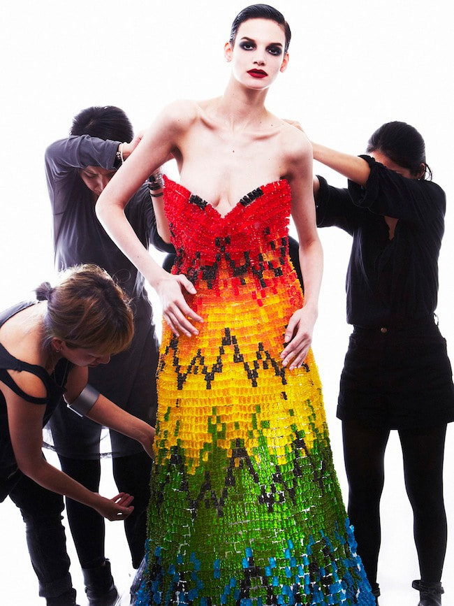 Couture Dress Made From 50,000 Gummy Bears