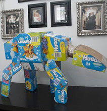 Geeky Mom Creates Star Wars AT-AT From Diaper Boxes