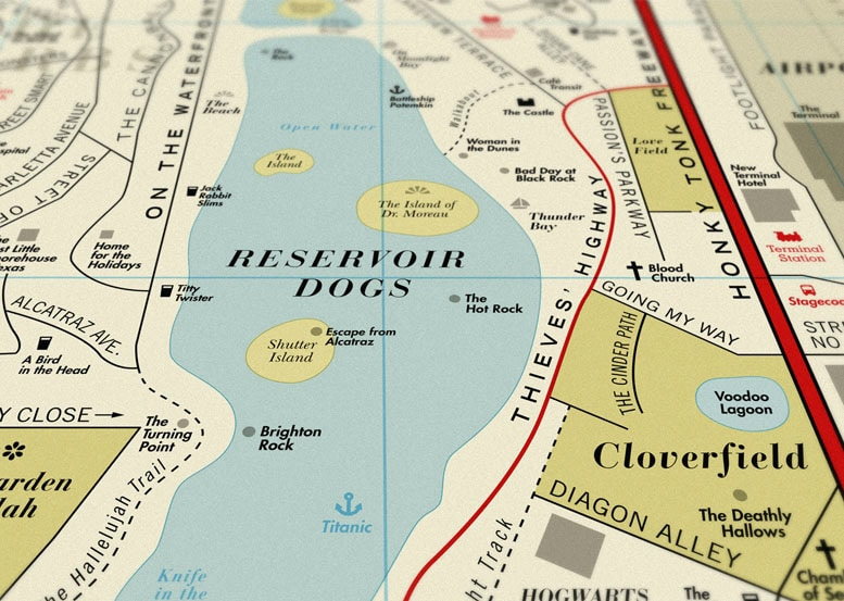 The Ultimate Vintage Style Map For Movie Lovers
