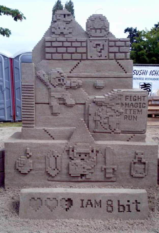 Nintendo-Sand-Art-Sculpture