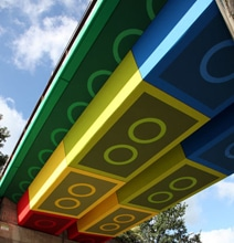 Lego Brick Bridge: The Geekiest Overpass In The World