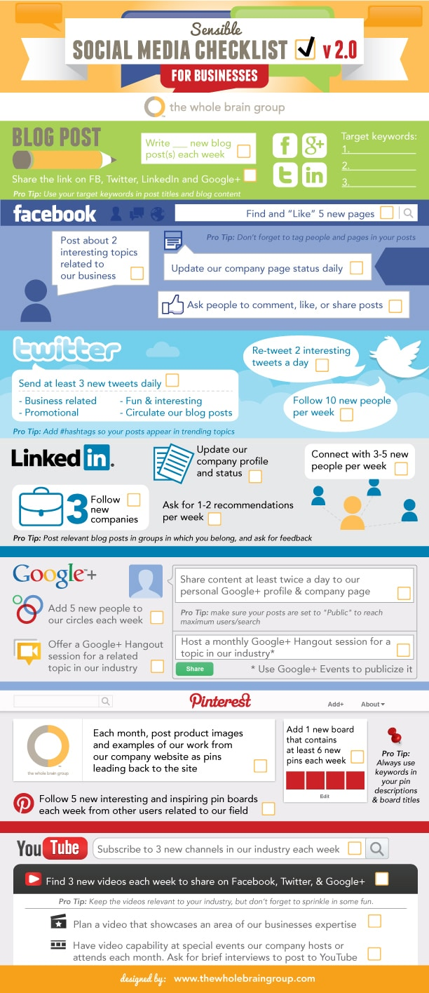 Social Media Checklist For Businesses [Infographic]