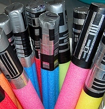 Easy DIY Star Wars Lightsabers Made From Pool Noodles
