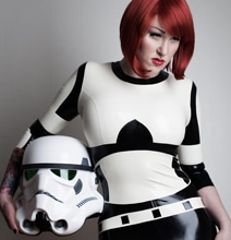 Rubber Stormtrooper Inspired Catsuit Will Make The Guys Swoon