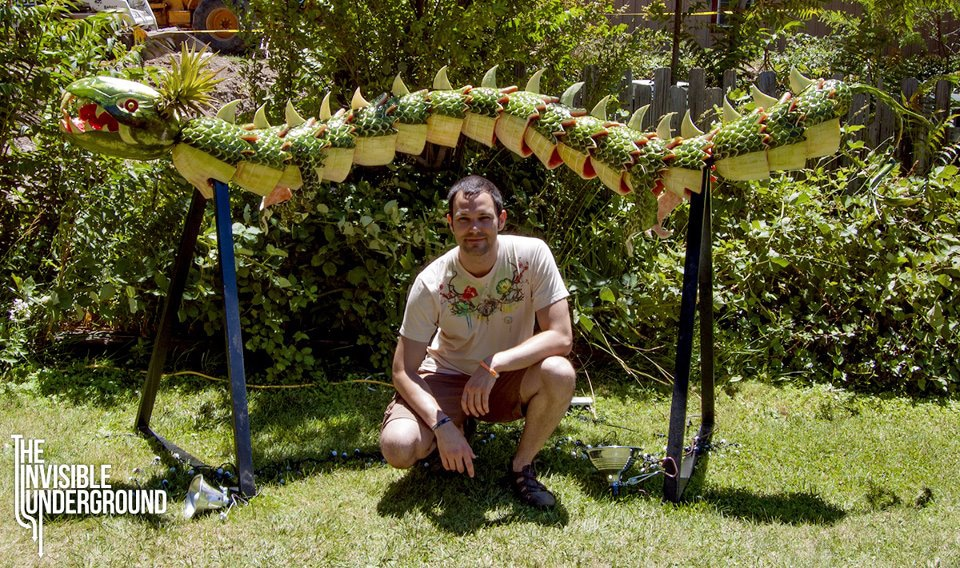 Unbelievable Dragon Built With Watermelons & Pineapples