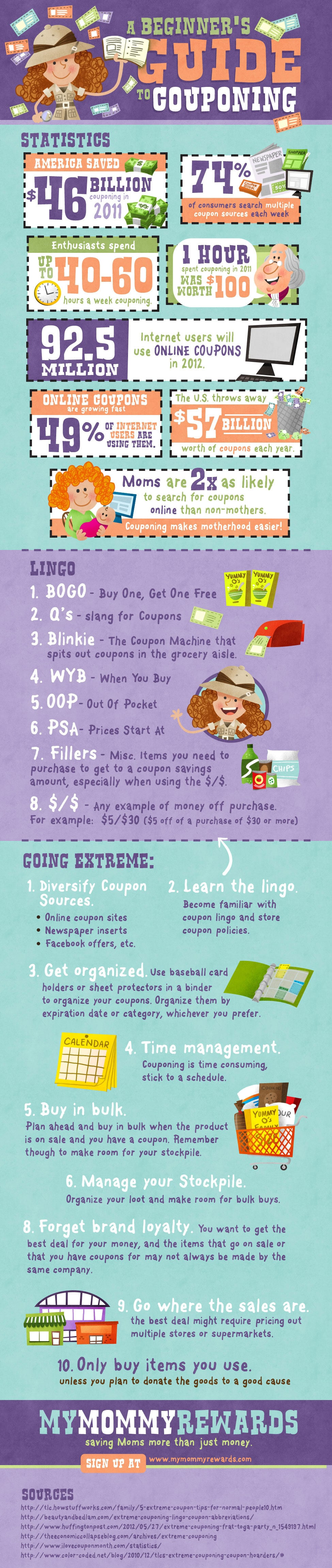 Couponing Guide For Beginners [Infographic]