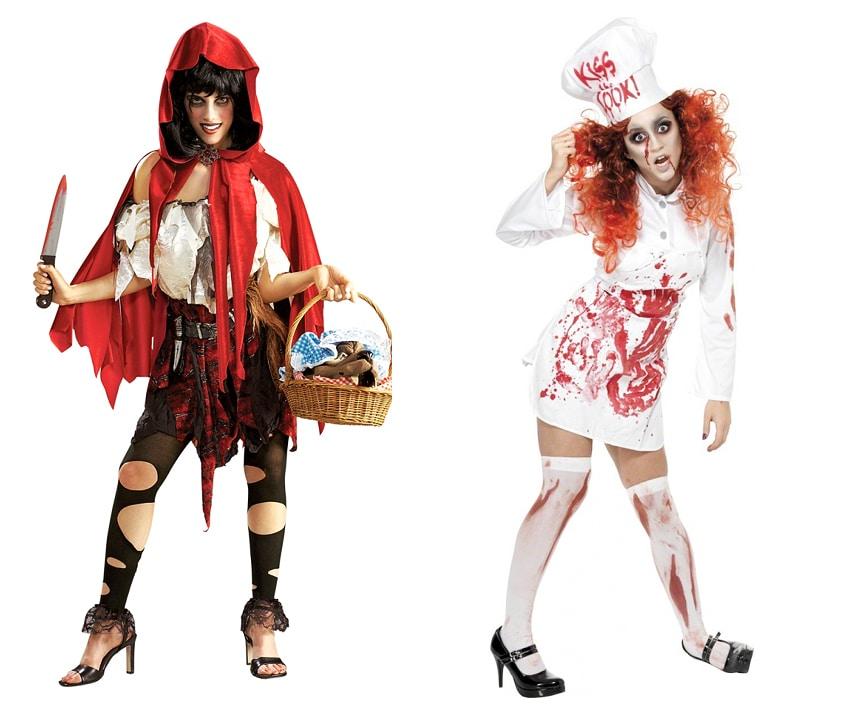 Ladies Costume Bloody Zombie