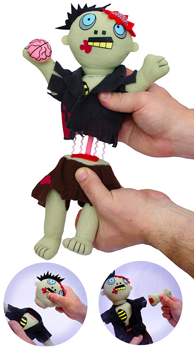 Freaky Zombie Plush Doll Asks To Be Dismembered