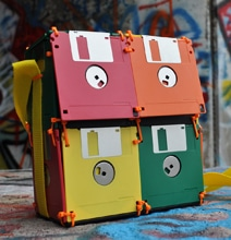 Retro Floppy Disk Storage Bag For The Ultimate Geek