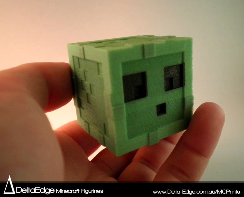Minecraft Figurines 3D Printed For Real Life Playing