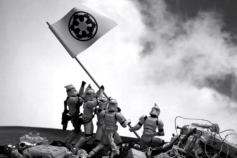 Famous Photographs Recreated With Star Wars Figurines
