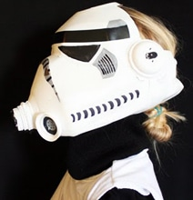 Stormtrooper Helmet Created Entirely Out Of A Milk Jug