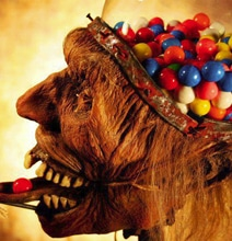 Horrifying Zombie Head Taxidermy Gumball Machine