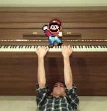 Backwards Piano Man Plays Super Mario Song While…Backwards