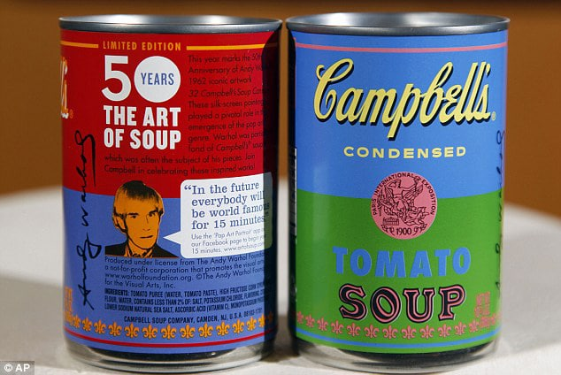 Campbell's Soup Pop Art Packaging Inspired By Andy Warhol