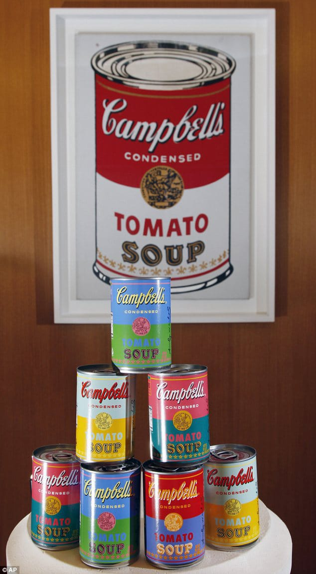 campbell 39 s soup pop art packaging inspired by andy warhol. Black Bedroom Furniture Sets. Home Design Ideas