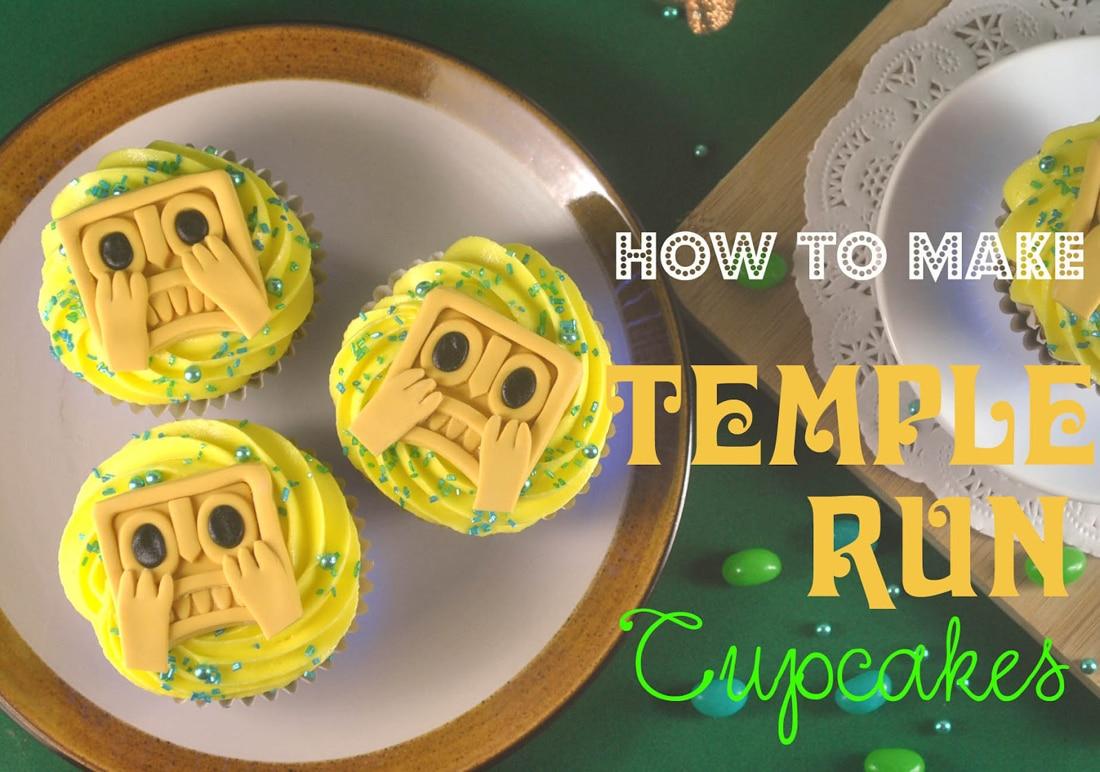 DIY Temple Run Game Cupcakes