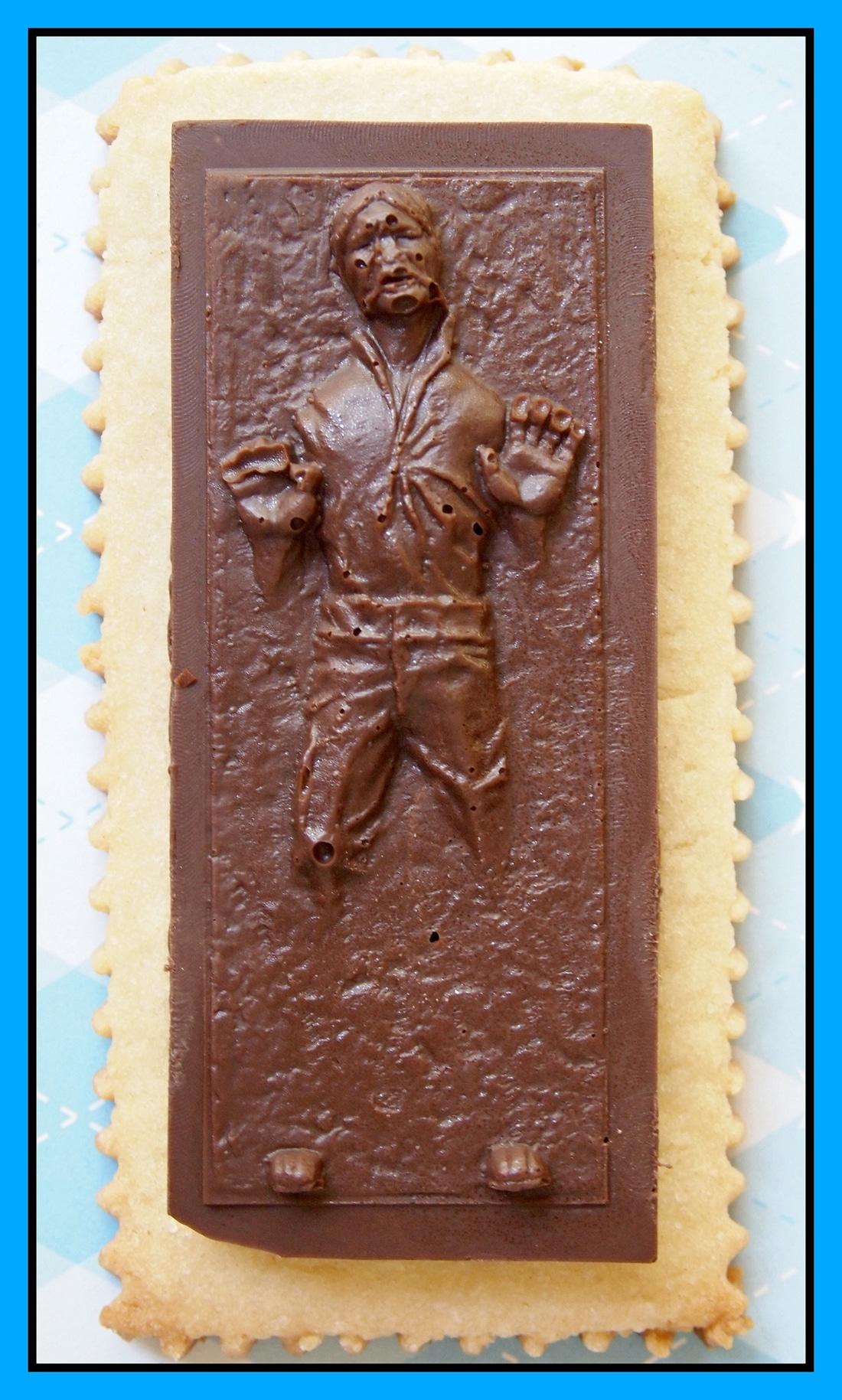Han Solo In Carbonite Chocolate Sugar Cookies