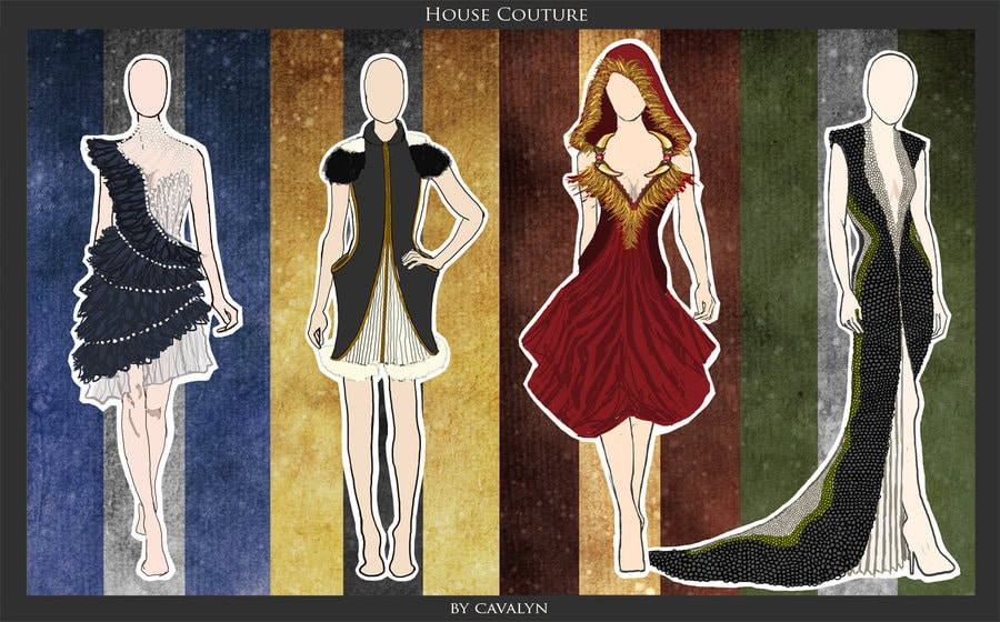 4 Houses Of Hogwarts Inspired Fantasy Fashion Designs