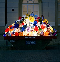 Trash Bags Art: Illuminated Garbage Lights Up The City