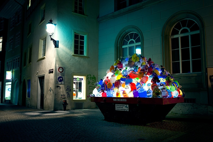 Illuminated-Trash-Bags-Garbage-Installation