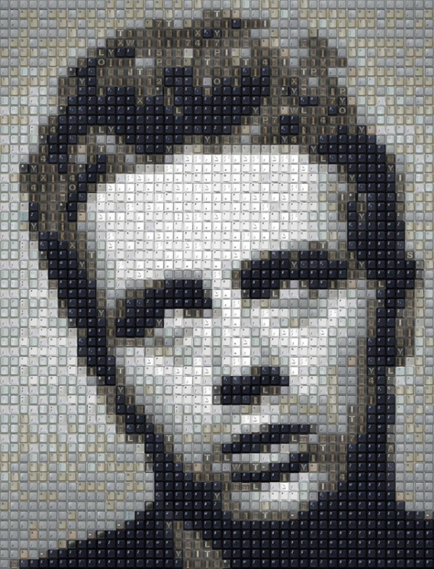 James-Dean-keyboard-keys-art