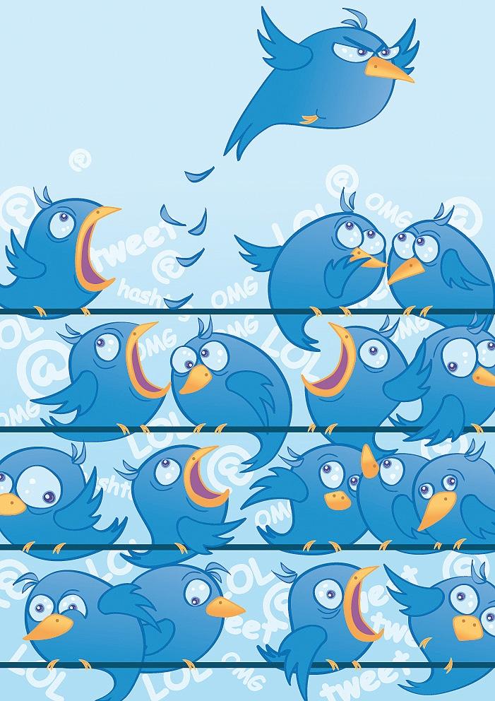 Lots-Of-Twitter-Birds-Tweet