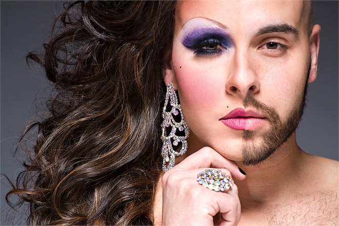 Drag Queens: Men's Faces As Half Women & Half Men [13 Pics]