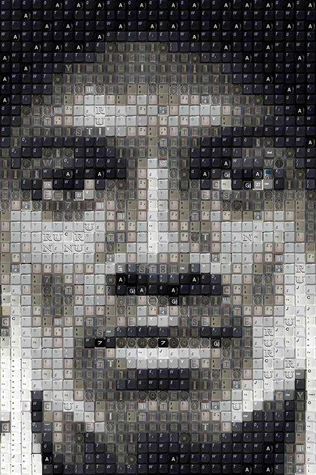 Michael-Jackson-Keyboard-Keys-Art