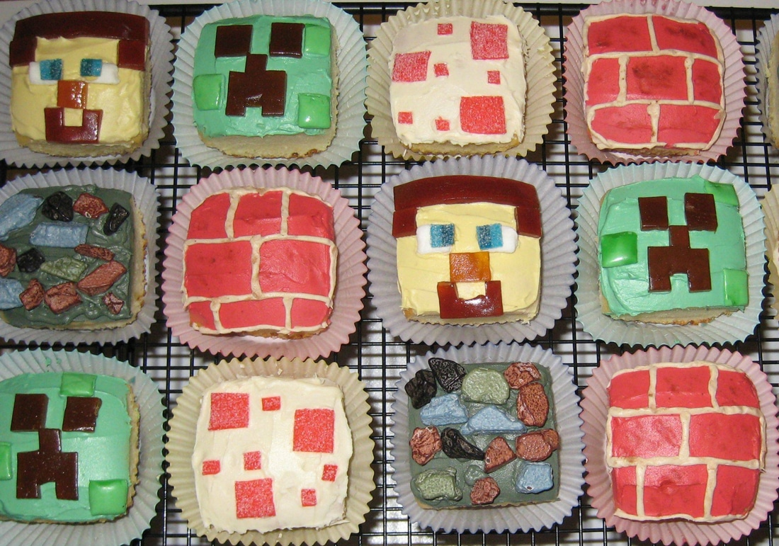 Minecraft-Cakes-and-Cupcakes