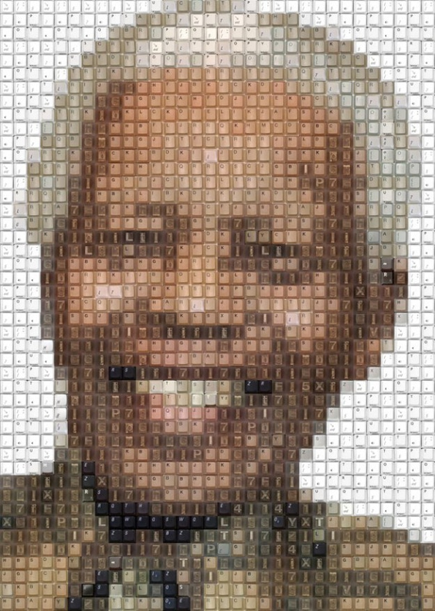 Nelson-Mandela2-Keyboard-Keys-Art