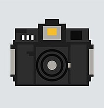 100 Pixelated Camera Illustrations To Use Any Way You'd Like