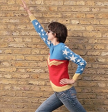 Be A Superhero: DIY Retro Wonder Woman Sweater