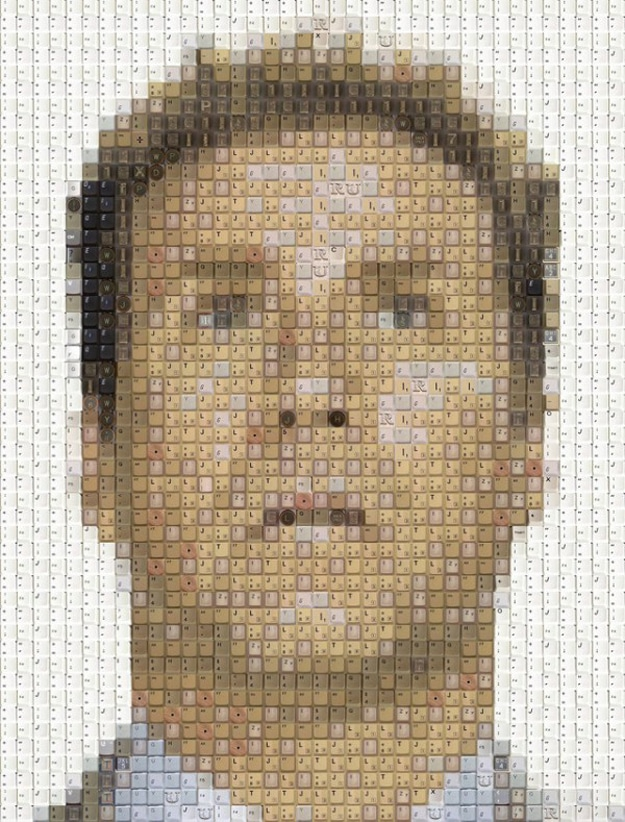 Pixel Perfect Portraits Created From Old Keyboard Keys [12 Pics]