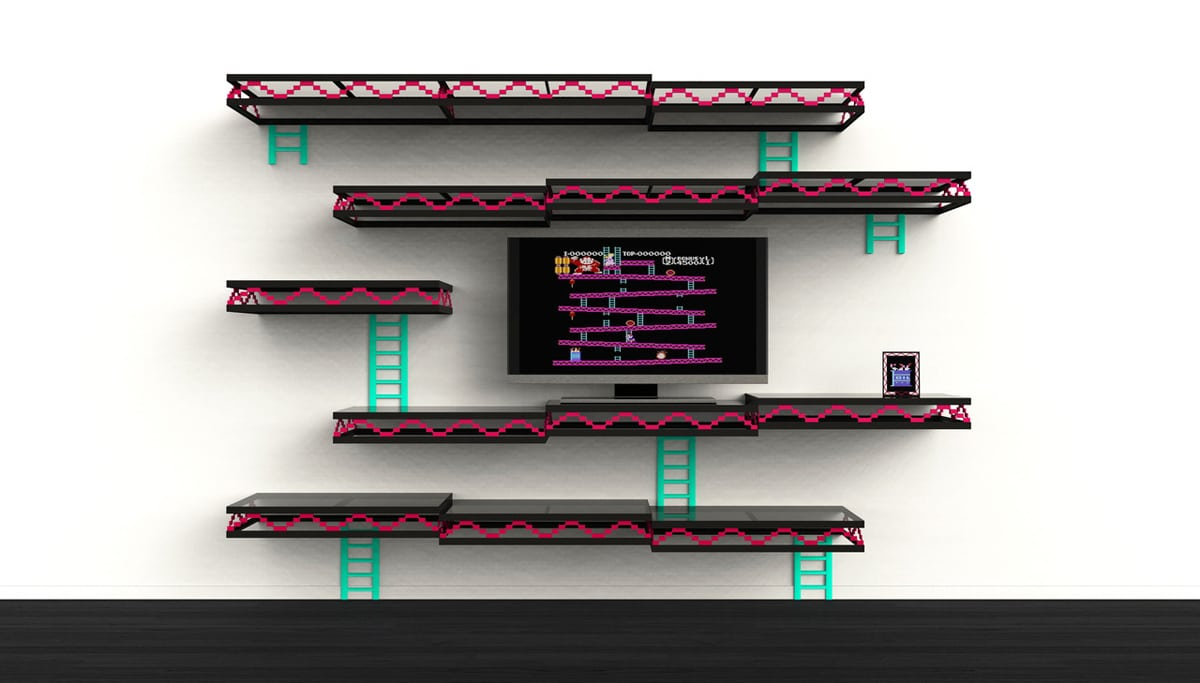 Retro Gaming Decor: The Geeky Donkey Kong Wall Shelf