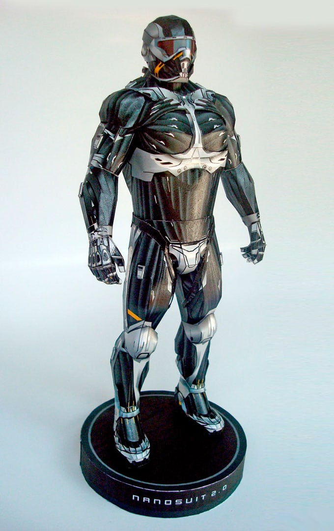 Papercraft Replica Of Crysis Nanosuit 2.0 Is Pure Mastery
